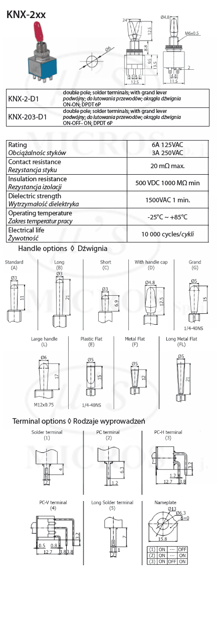 knx-2-d1 toggle switch - toggle switches-mts type