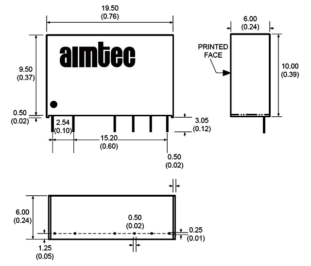 Converters AC_DC and DC_DC- AIMTEC DC_DC Converter modules-081033 ...