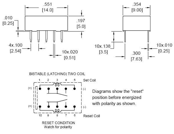 Incredible Az850P2 5 Signal Relay Bistable 2 Coils Signal Relays Relpol Wiring 101 Vihapipaaccommodationcom
