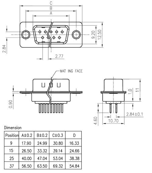 Connectors- D-Sub connectors-093084 - Micros - Electronics