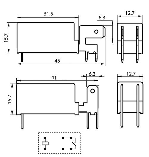 Rj Auto Sales >> HF115F-Q/048-1HT (JQX-115F-Q) power relay - Power Relays ...