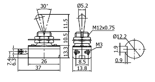 knh-1s toggle switch - toggle switches-kn type