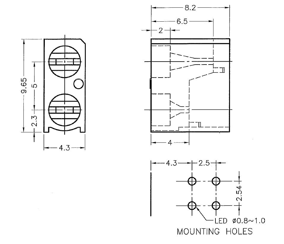 Optoelectronics Led Holders And Led In Package 082078 Micros
