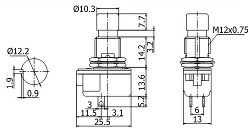 pbs-24b-2 - push-button switches